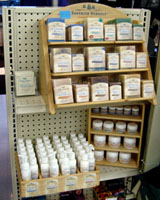 Superior Herbals display at Johnsons, Grand Marais